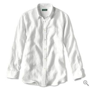 Men's linen button down